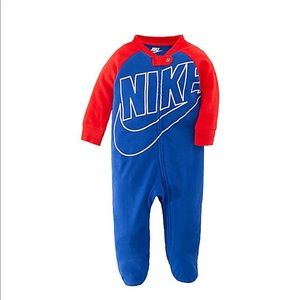Nike® Futura Footed Coverall in Royal Red 9M